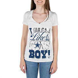 Dallas Cowboys Womens I Tailgate Burnout Tee