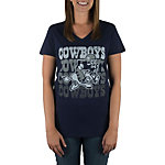 Dallas Cowboys Retro Joe Fade V-Neck Tee