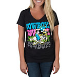 Dallas Cowboys Neon Joe Fade V-Neck Tee