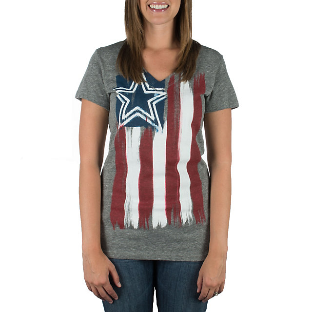 Dallas Cowboys Womens Colors V-Neck Tee