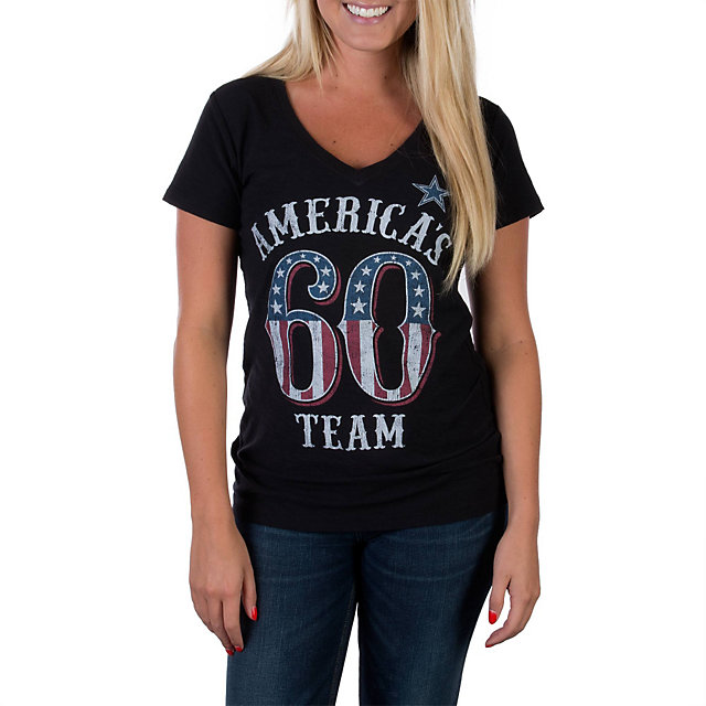 Dallas Cowboys Womens Team America Slub Tee