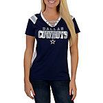 Dallas Cowboys Lace Up Jersey Top