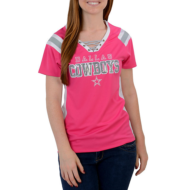 Dallas Cowboys Lace Up Jersey Top