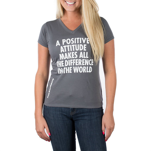 Dallas Cowboys Jenny Holzer Womens Positive Attitude Tee