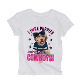 Dallas Cowboys Girls Puppy Tee