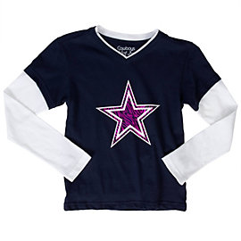 Dallas Cowboys Girls Hosta Layered Tee