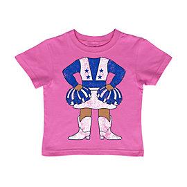 Dallas Cowboys Infant / Toddler Lil Cheerleader Tee