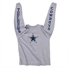 Dallas Cowboys Youth Long Sleeve Leaper Tee