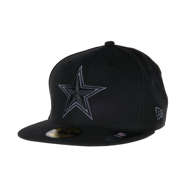 Dallas Cowboys New Era Black Gray Basic 59Fifty