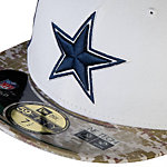 Dallas Cowboys New Era Salute To Service 59Fifty Camo Sideline Cap