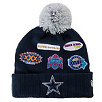 Dallas Cowboys New Era Super Bowl Allover Knit Cap