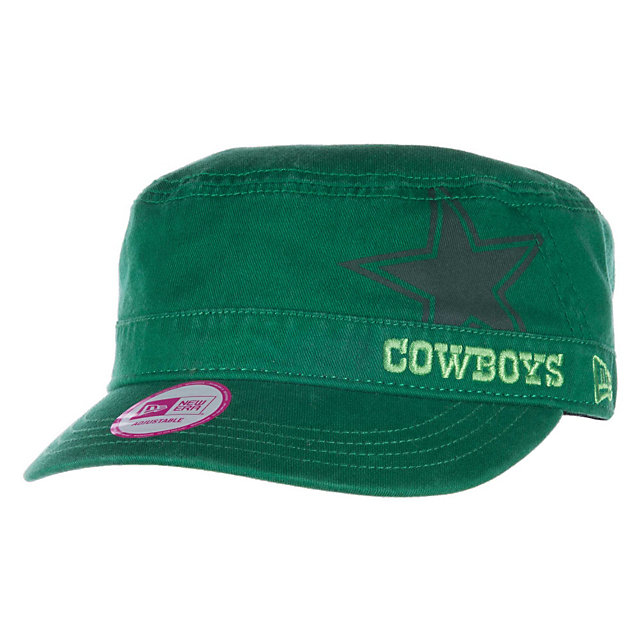 Dallas Cowboys New Era Womens St Patricks Goal 2 Go Military Cap