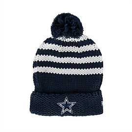 Dallas Cowboys New Era Womens Chunky Stripe Knit Hat