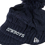 Dallas Cowboys New Era Womens Pommed Visor Knit Cap