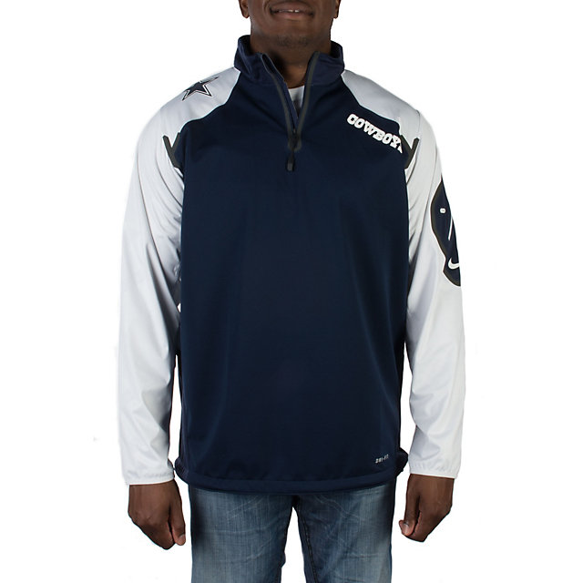 Dallas Cowboys Nike Fly Rush Half Zip Top