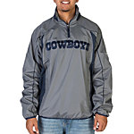 Dallas Cowboys Grey Half Zip Pullover Jacket