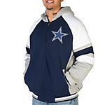 Dallas Cowboys Fleece Hood Full Zip Jacket