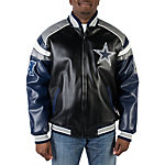 Dallas Cowboys Color Blocked Pleather Jacket