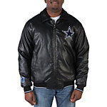Dallas Cowboys Black Faux Leather Jacket