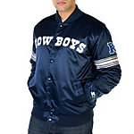 Dallas Cowboys Starter Navy Snap Front Jacket