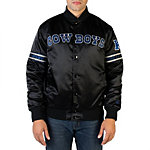Dallas Cowboys Starter Black & Navy Snap Front Jacket