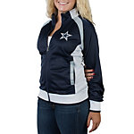 Dallas Cowboys Womens Navy Track Jacket