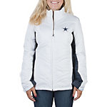 Dallas Cowboys Womens White Quilted Jacket