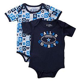 Dallas Cowboys Honey Bun 2-Pack Bodysuit Set