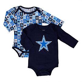 Dallas Cowboys Sunshine 2-Pack Long Sleeve Bodysuit Set