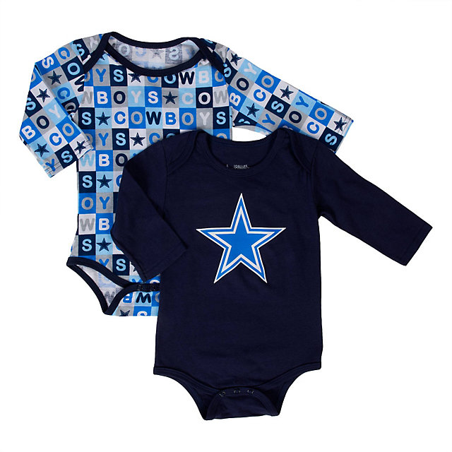 Dallas Cowboys Sunshine 2-Pack Long Sleeve Bodysuit Set