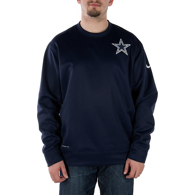 Dallas Cowboys Nike Shield Nailhead Crew
