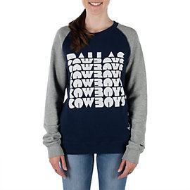 Dallas Cowboys Nike Womens Blockbuster Raglan