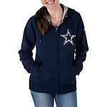 Dallas Cowboys Nike Womens Tailgater 2 Full Zip Hoody
