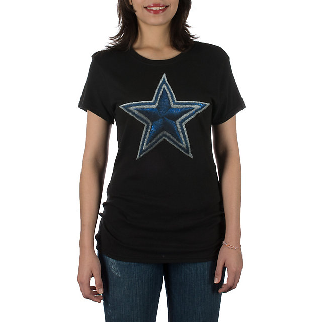 Dallas Cowboys Womens Stitched Star Crew Tee
