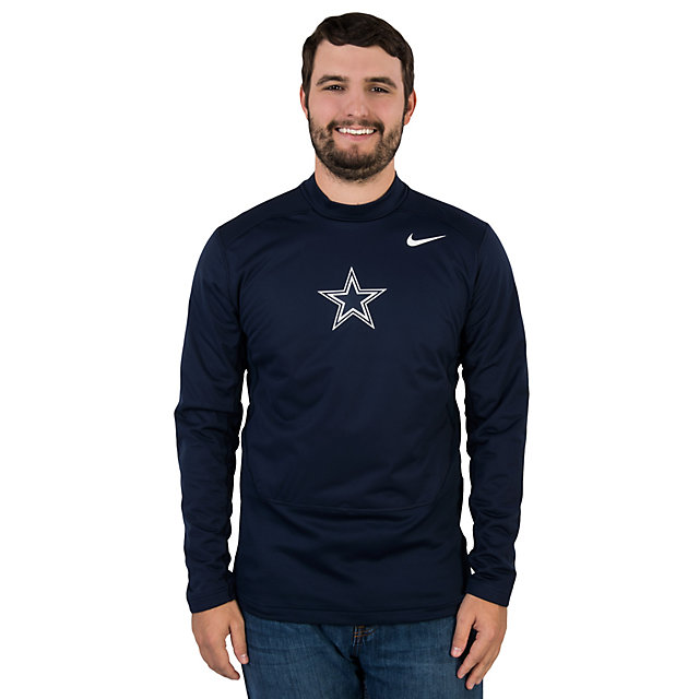 Dallas Cowboys Nike Hyperwarm Long Sleeve Mock