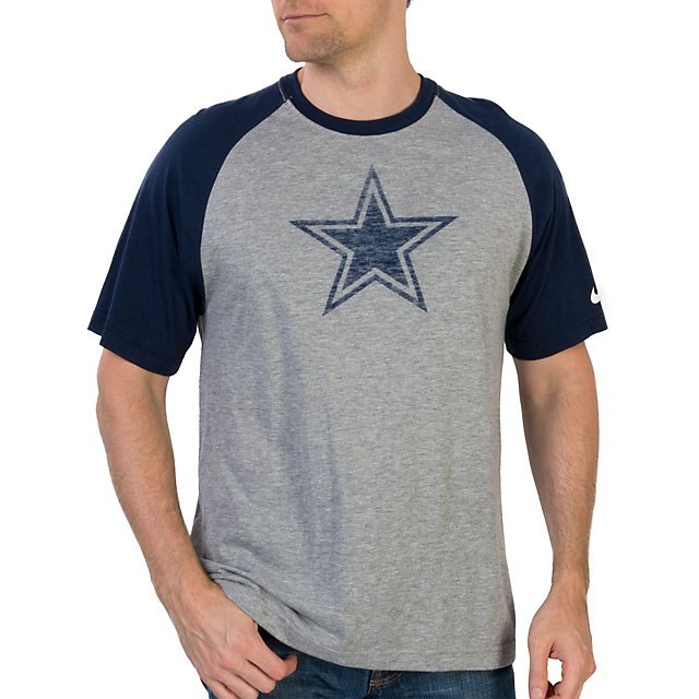 Dallas Cowboys Tri Blend Big Play Raglan Tee