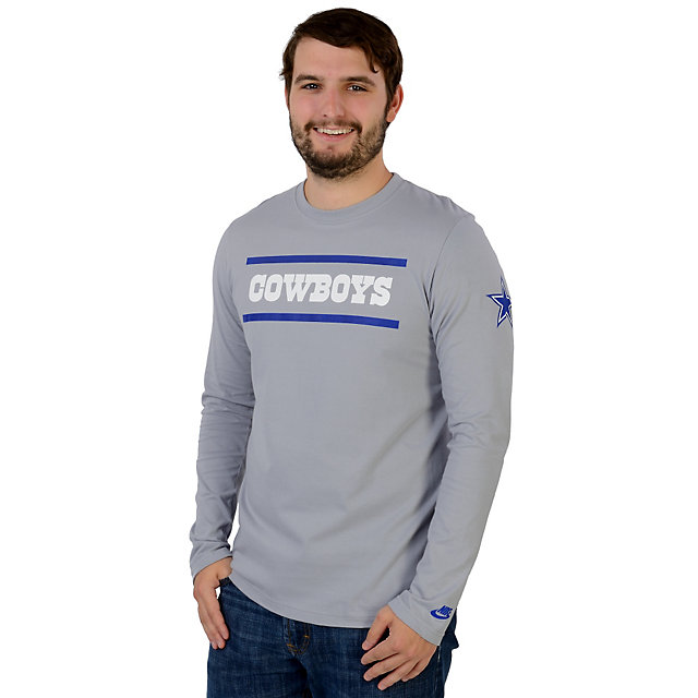 Dallas Cowboys Nike Rewind Stripes Long Sleeve Tee