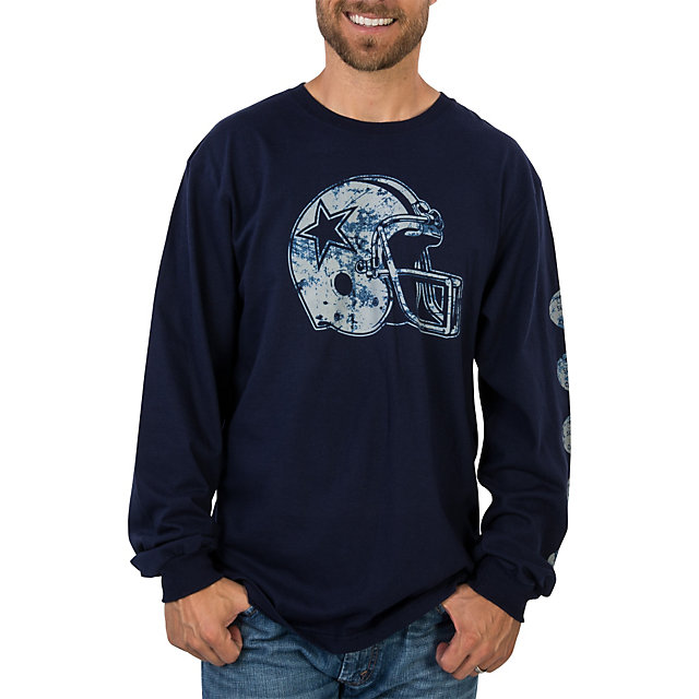 Dallas Cowboys Helmet Championships Long Sleeve Tee