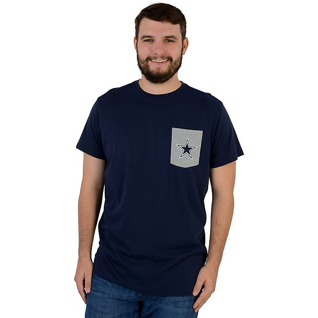 Dallas Cowboys Contrast Star Pocket Tee