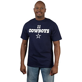 Dallas Cowboys Cole Beasley #11 Walnut Name and Number Tee