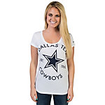 Dallas Cowboys Nike Crested Triblend Scoop Neck Tee