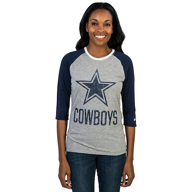 Dallas Cowboys Nike Blocking Tri Blend Raglan Tee