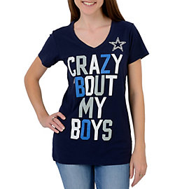 Dallas Cowboys Crazy Slub V-Neck Tee