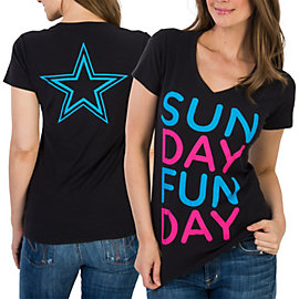 Dallas Cowboys Sunday Funday Slub V-Neck Tee
