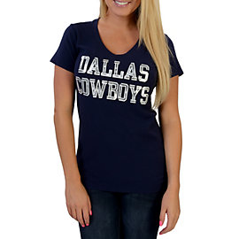 Dallas Cowboys Coaches Stripe Slub V-Neck Tee