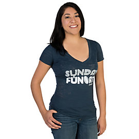 Dallas Cowboys Sunday Funday V-Neck Tee