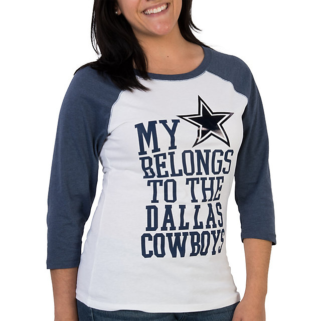 Dallas Cowboys Heart Belongs Raglan Tee