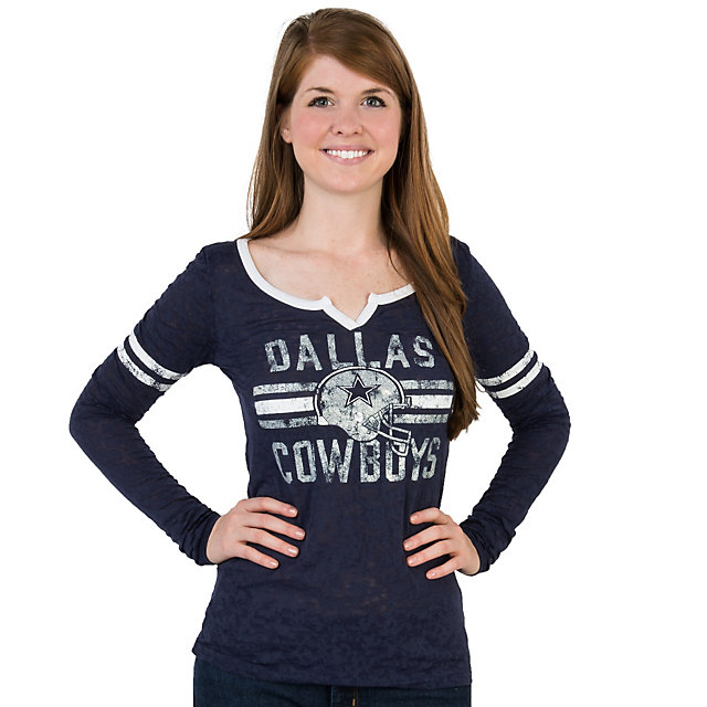 Dallas Cowboys Addeline Burnout Long Sleeve Tee