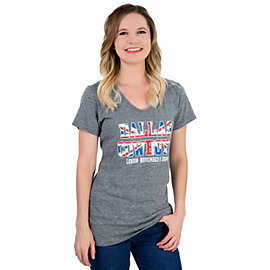 Dallas Cowboys Womens London Practice Triblend Tee