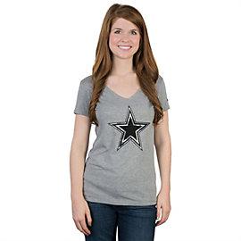 Dallas Cowboys Nike Womens Flyover Camo Logo Triblend Tee